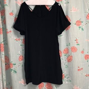 Express black short sleeve dress